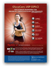 Zartwork Designs - Glycocarn Nutra Ingredients Advertisement